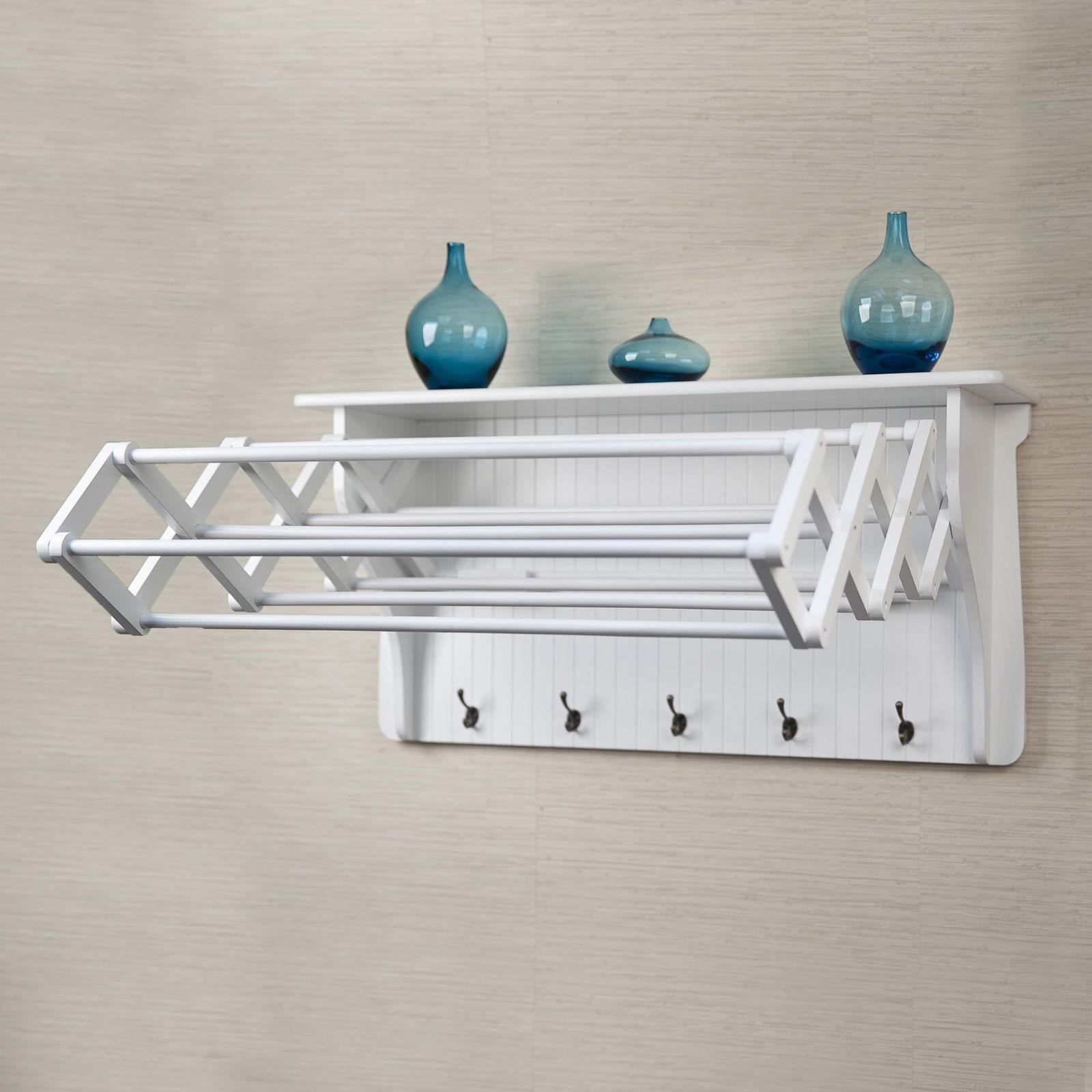 wall mounted drying rack collapsible clothes towel