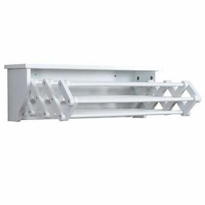 Wall-Mounted Clothes Towel Room Storage Shelf White