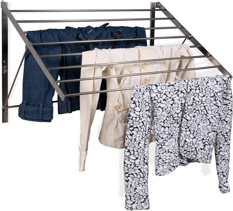 wall mounted laundry drying rack heavy duty