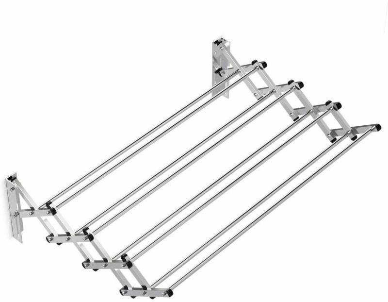 Tangkula Wall Mounted Laundry Drying Rack, Stainless