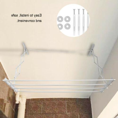 72x19x26'' Wall-Mount Drying Hanger Indoor