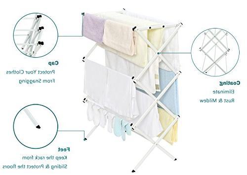 Clothes Rack, Inch Laundry Rack with Coating, White