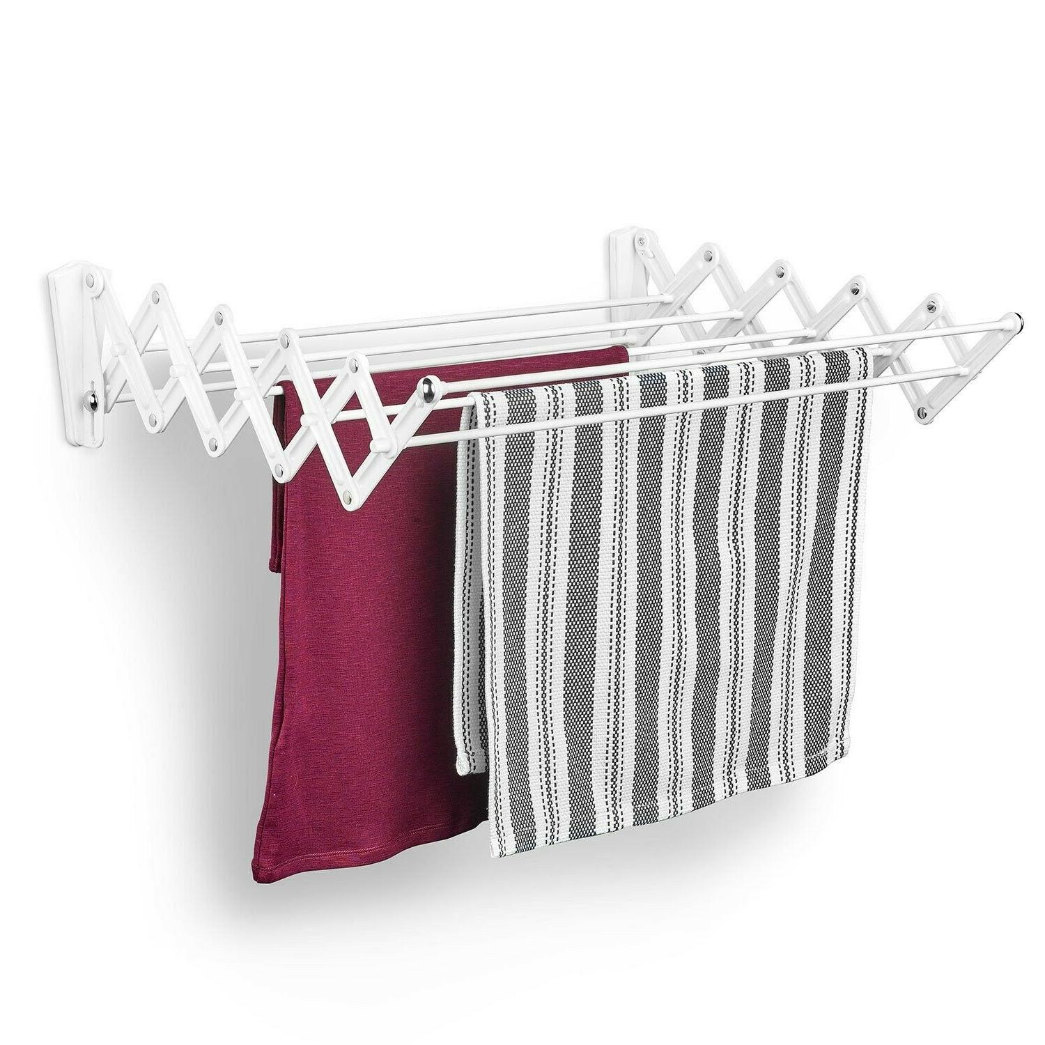 Wet Clothes Drying Rack Indoor Hanging Laundry Wall Mount Po