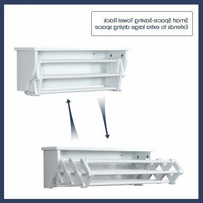 White Bathroom Rack Laundry Shelf