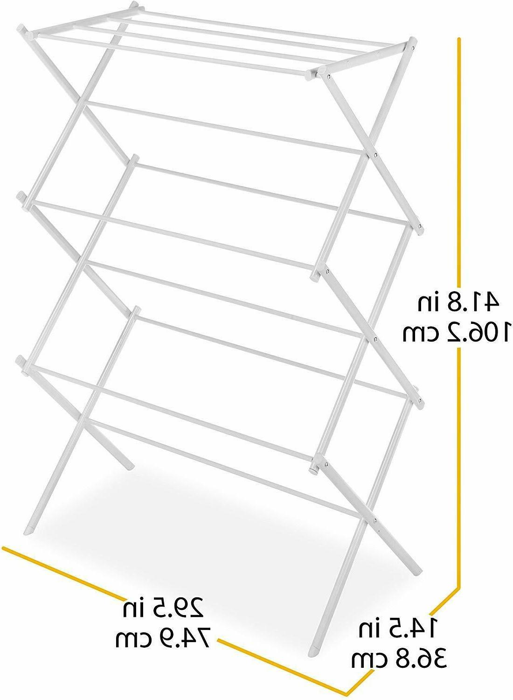 Whitmor Steel Drying Rack, 11 Bars, White