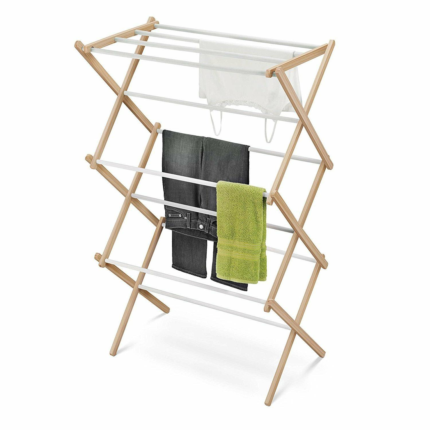 wood accordion drying rack 25