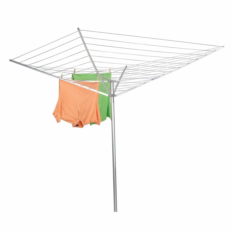 XL 165-FT Aluminum Umbrella Clothesline Drying