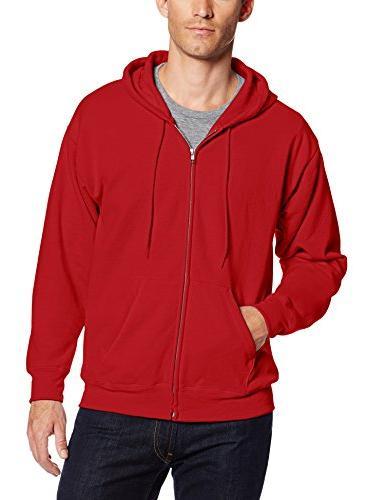 83eada6b Hanes Men's Full Zip EcoSmart Fleece Hoodie, Deep