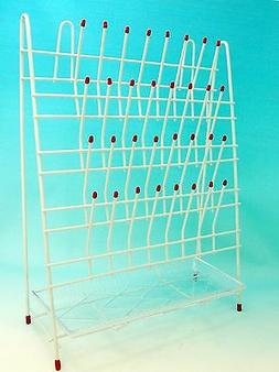 Lab  Drying   Draining Rack 32 Pegs with Drain Pan New
