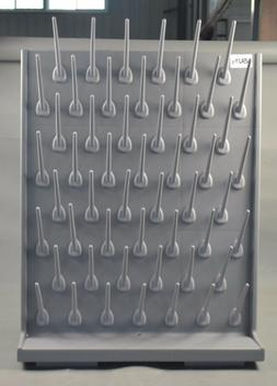 Lab Supply Wall Desk Drying Rack 52/27 Pegs Cleaning Equipme