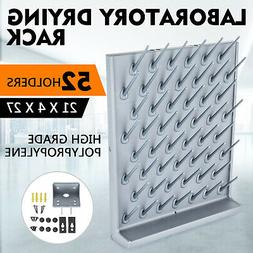 New Drying Rack Wall Desk PP 52 Pegs Lab Supplies Cleaning E