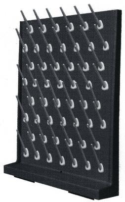 Laboratory drying rack, Peg Board, Rack Polypropylene, 52 Ho