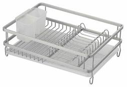 Large Countertop, Sink Dish Drainer Drying Rack with Drain B