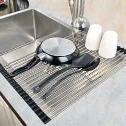 Large Dish Drying Rack Holder Over The Sink Kitchen Tool Dra