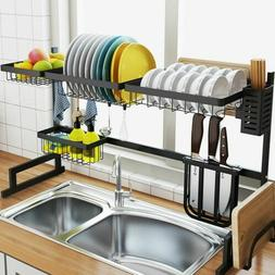 Large Dish Drying Rack Over Sink Drainer Shelf Kitchen Stora