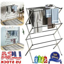 Large Folding Laundry Drying Rack Portable Foldable Clothes