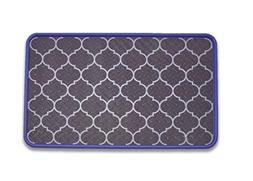 Resilia - Lavender/Lattice Floor Mat for Dog Bowls, Cat Litt
