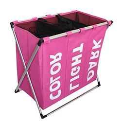 Julitech Large Laundry Basket, Collapsible Fabric Laundry Ha