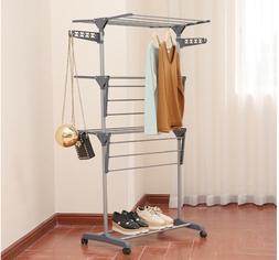 Large Folding Laundry Drying Rack Portable Foldable Clothes