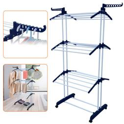 Laundry Drying Rack Clothes Stand Portable Folding Hanger In