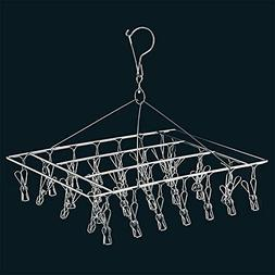 whatUneed Laundry Clothesline Hanging Rack,Stainless Steel