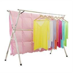 Laundry Drying Rack Indoor Outdoor Garment Towel Bar Clothes