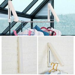 Laundry Drying Rack Indoor Wall-mount Retractable Folding Hi