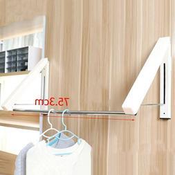 Laundry Drying Rack Indoor Wall-mount Retractable Folding Hi