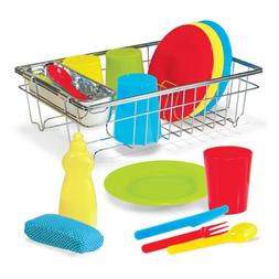 Melissa & Doug Let's Play House Wash and Dry Dish Set