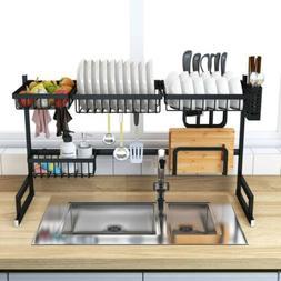 LG Over The Sink Dish Drying Rack Drainer Shelf Black Utensi
