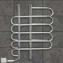 LI 80W Towel Warmer 304# Stainless Steel Mirror Polished Dry