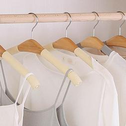 LIANGJUN Clothes Pants Hangers Wooden Non-slip Multifunction