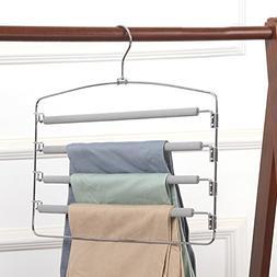 LIANGJUN Pants Clothes Magic Hanger Stainless Steel Hooks No