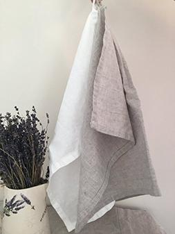 Pure Linen Tea Towel in Natural Color