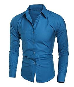 Mistere Men's Long Sleeve Vogue Fitted Basic Business Casual
