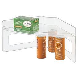 mDesign Plastic Kitchen Cabinet Lazy Susan Food Storage Orga