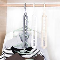 Magic Rotating Support Circle Clothes Hanger Clothes <font><