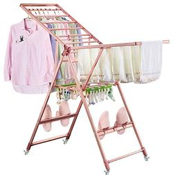REDHOT Magnesium Titanium Alloy Gullwing Clothes Drying Rack