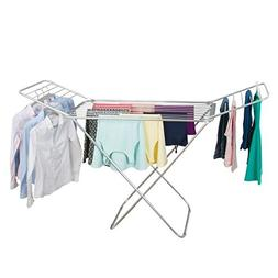 mDesign Expandable Drying Rack with Bars - Collapsible Cloth