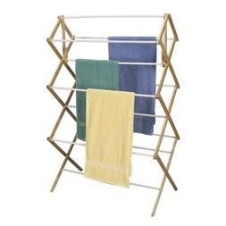 Household Essentials Mega Fir Wood Clothes Drying Rack