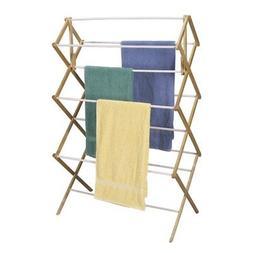 Household Essentials Mega Fir Wood Clothes Drying Rack