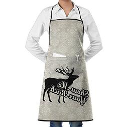 Mens Womens Bib Apron Show Me Your Rack Washable Polyester B