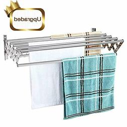 Merya Folding Clothes Drying Rack Wall Mount, Retractable 30