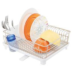 mDesign Large Metal Kitchen Countertop, Sink Dish Drying Rac
