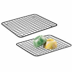 metal kitchen sink dish drying rack mat