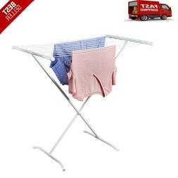 Metal X-Frame Folding Clothes Drying Rack Lightweight For La
