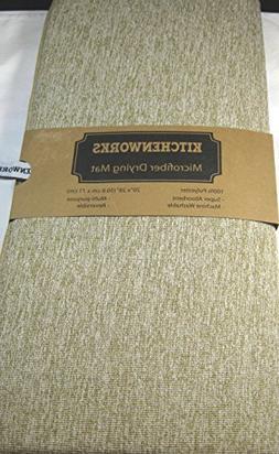 "Kitchen Works XL Microfiber Drying Mat Lt. Brown 20"" x 28"" 1"