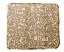 Microfiber Drying Mat Thanksgiving Words Design, 16 x 18 Inc