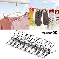 Unmengii 20 PCS Mini Multifunction Household Clamps Wire Cli