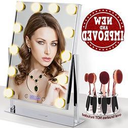 mirror 12 big bulbs hollywood